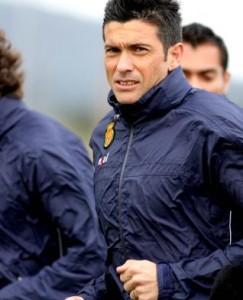 Pep Lluís Martí corre durante la sesión de entrenamiento de ayer en Son Bibiloni.  Foto: Tooru Shimada
