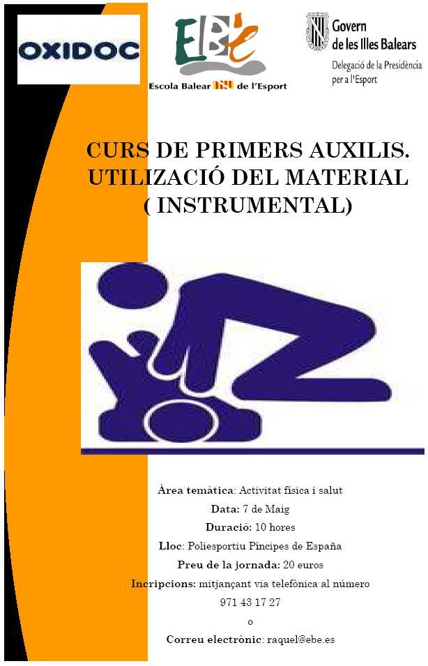 cartel de curso primereos auxilios