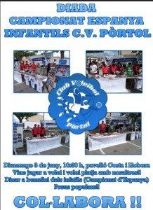 cartel voley portol