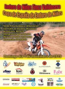 Cartel Enduro Niños Olerdola 2015