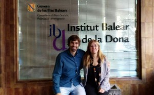 El director general d'Esports i Joventut, Carles Gonyalons, i la director de IBDona, Rosa Cursach