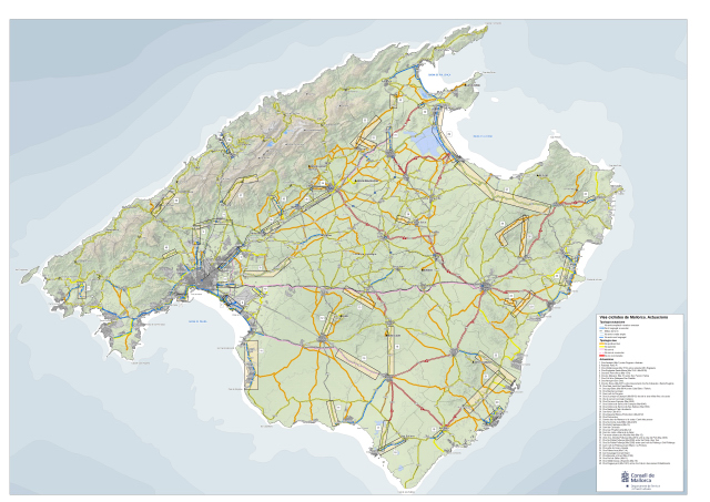 Mapa Actuacions Ciclistes
