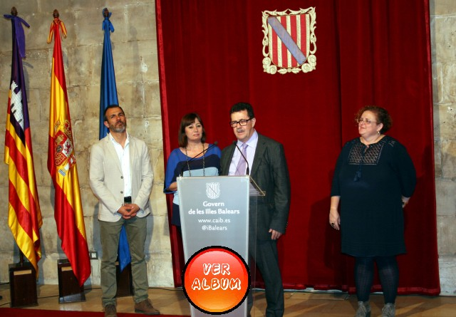 Miquel Jaume en su intervención en la recepción del Govern Balear.J