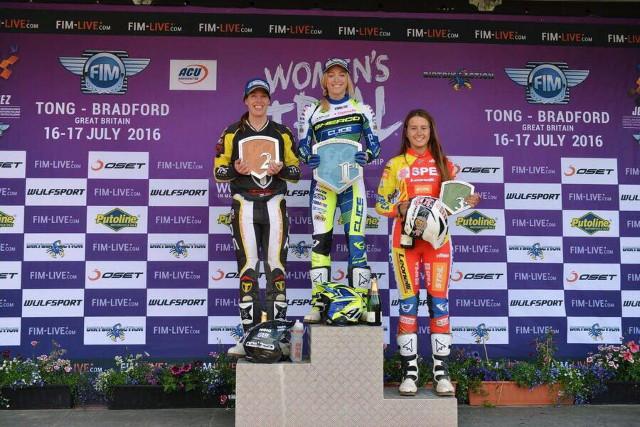 Berta Abellán, podio GP Trial GB 2016_FIM-G2FMedia
