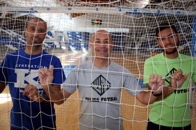 Vadillo, Juanito y Taffy, tres de los cuatro nominados del Palma Futsal