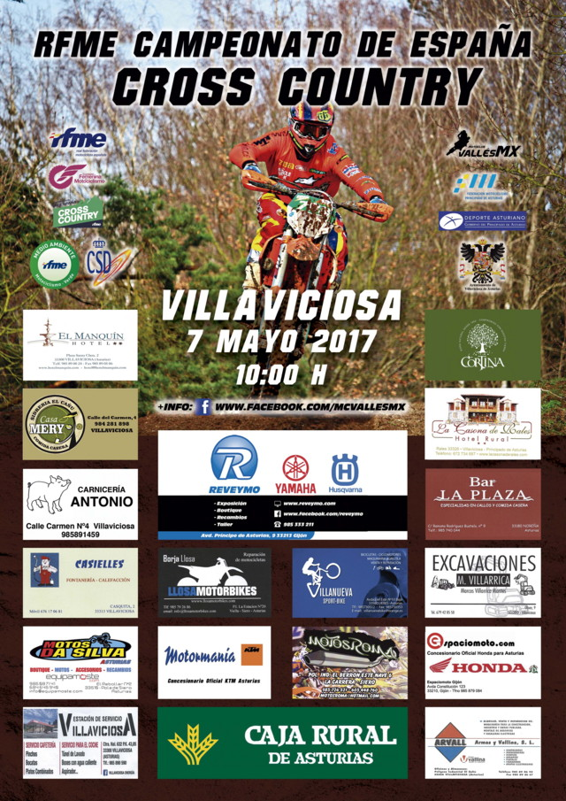 Cartel Cross Country Villaviciosa 2017