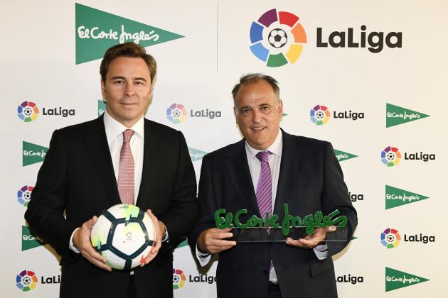 Dimas Gimeno (El Corte Inglés) y Javier Tebas (LaLiga).