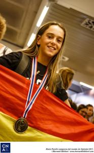 María Perelló, campeona del mundo de Optimist.