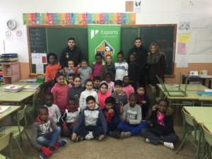 Diego Quintela y Nico Sarmiento visitaron el CP Joan Capó
