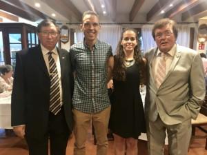 Guillermo Cuadra Fernández, junto a Amy Peñalver