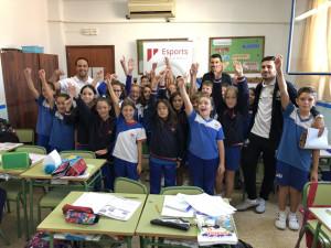 Lolo y Diego Quintela visitaron a los alumnos del colegio palmesano Juan de la Cierva (2)