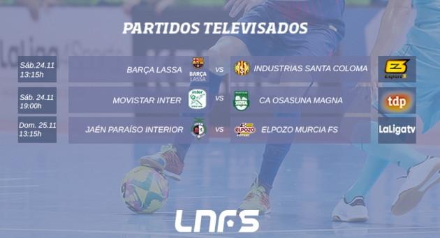 TELEVISADOS JORNADA 1  1. 1ª  División LNFS