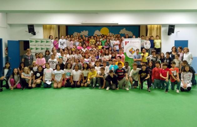Carlos Barrón y Felipe Paradynski visitaron el colegio Aina Moll de Palma