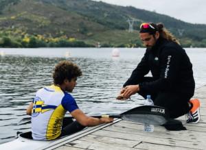 Pau Hierro y su entrenador Vinca Escandell - selectivo nacional Berducido