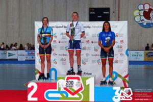 Podium. Campeonato de Europa de Patinaje Velocidad en Navarra