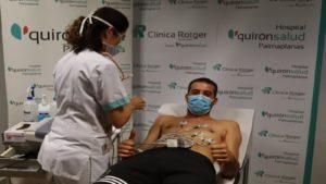 Fabio pasando las pruebas médicas este jueves 1