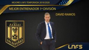 DAVID RAMOS, MEJOR ENTRENADOR PRIMERA DIVISIÓN LNFS