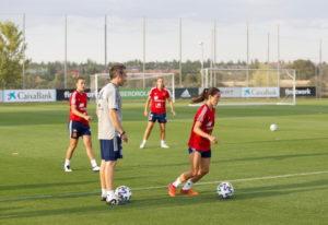 entrenamiento de la Selección española femenina en la Ciudad del Fútbol