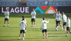 Selección española en Kiev