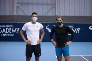 Rafa Nadal y Felix Auger-Aliassime en la Academia