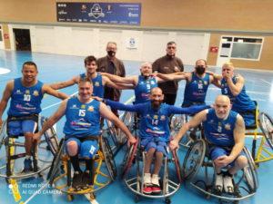 La plantilla del DiscaEsports - Bàsquet Calvià en Leganés