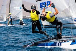 Tara Pacheco & Florian Trittel winners Nacra 17