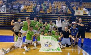 El filial del Palma Futsal celebró el ascenso sobre la pista del Centro Indulas de los Deportes